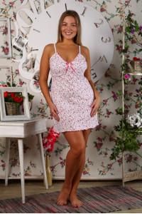 А2 Сорочка бретелька (Розовая)