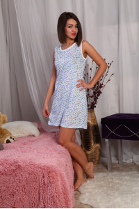 А16 Сорочка Бабушкина (Голуб. на белом)