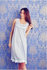 А17 Сорочка Варя (Голуб. на белом)