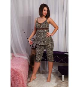 Б7 Пижама Царица бриджи (Леопард)