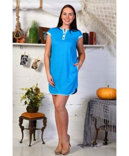 В258 Туника Полина (голубая)