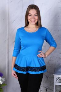 В283 Блузка Вита баска (голубая)