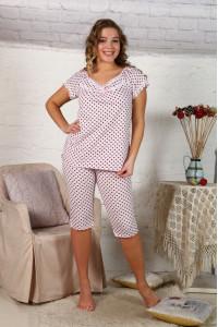 Б10 Пижама Вишенка (горох на розовом)