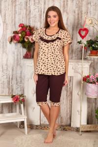 Б15 Пижама Хлучинская (коричневый фламинго)