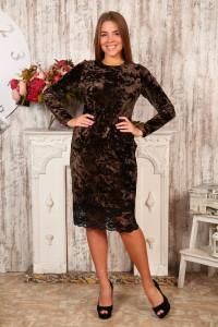 Д476 Платье Каролина (коричневое)