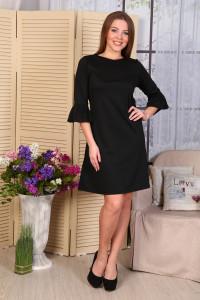 Д485 Платье Сати милано (черное)