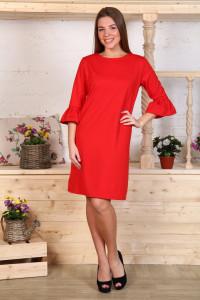 Д485 Платье Сати милано (красное)