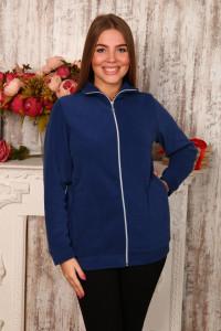 Г17 Куртка удлинённая флисовая (светло-синяя)