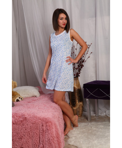 А16 Сорочка Бабушкина (Голубая цвет в ассортименте)