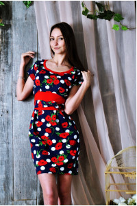 Д401 Платье Мария (Маки)