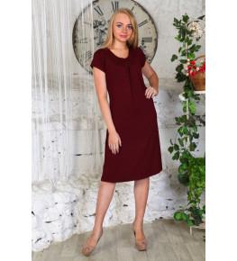 Д404 Платье Марго однотонное (Рубин)