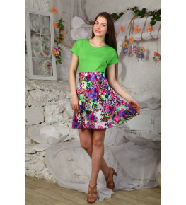 Д429 Платье Марианна (Лайм)