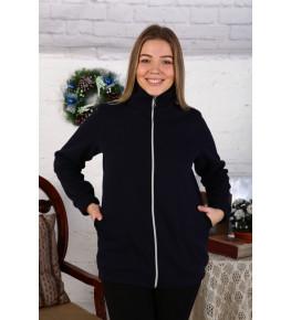 Г20 Куртка удлинённая с воротником футер трехнитка (чёрная)