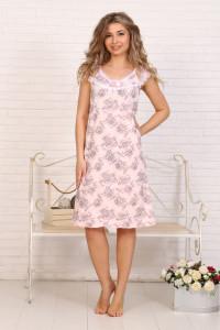 А13 Сорочка Вишенка (цветы на розовом)