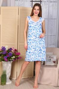 А31 Сорочка Сказка (голубые цветы)