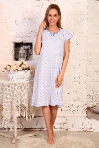 А4 Сорочка Крестьянка (Голуб. на белом)