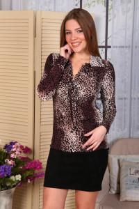В244 Джемпер Ирина (корич. леопард)