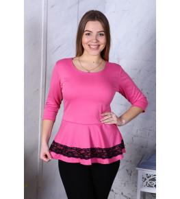 В283 Блузка Вита баска (розовая)