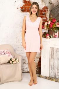 А42 Сорочка Валенсия без рукава (розовая)