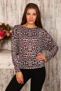 В278 Блузка длинный рукав (леопард)