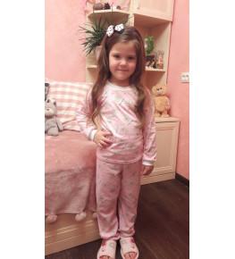 Н3 пижама детская (кулирка)(розовая) (в ассортименте)