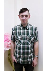 К3 Рубашка мужская короткий рукав (цвет в ассортименте)