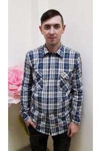 К2 Рубашка мужская короткий рукав (цвет в ассортименте)