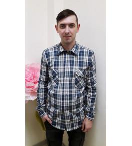 К2 Рубашка мужская длинный рукав (цвет в ассортименте)