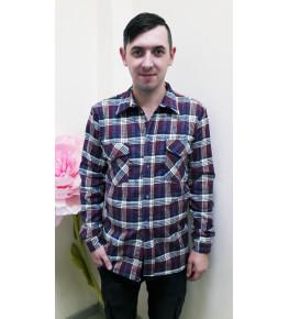 К1 Рубашка мужская длинный рукав (цвет в ассортименте)