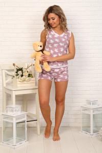 Б1 Пижама Майя (зайки на розовом)