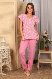 Б4 Пижама Лада брюки (розовая)
