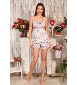 Б16 Пижама Царица шорты (Сердечки)