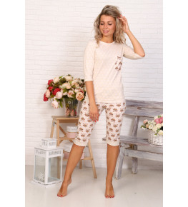 Б28 Пижама Кураж (Горох на молочном +совята)