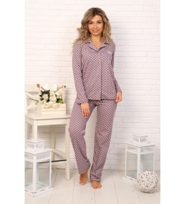 Б31 Пижама Сон (горох на пурпурном)