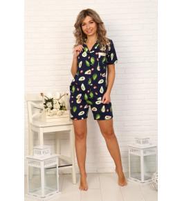 Б32 Пижама Сон с шортами (авокадо)