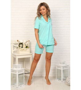 Б32 Пижама Сон с шортами (мятная)