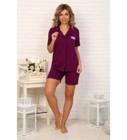 Б32 Пижама Сон с шортами (фиолетовая)