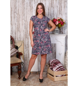 Д405 Платье Марго (розов.цветы+огурцы)