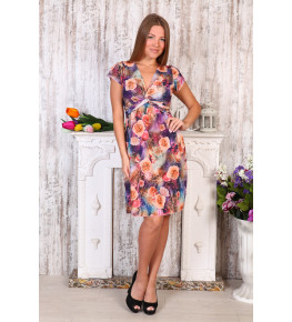 Д408 Платье Софья (розы на фиол.)