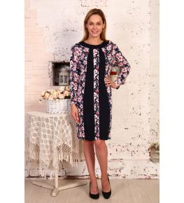 Д410 Платье Алина (нежно-розовые цветы)
