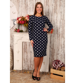 Д415 Платье Светлана футер двунитка (горох)