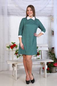 Д441 Платье Диана рукав 3/4 (зелёное)