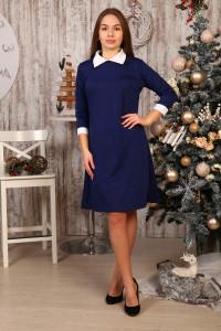 Д442 Платье Диана рукав 3/4 (синее)