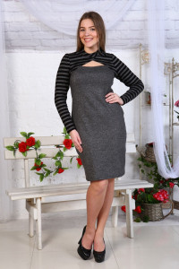 Д459 Платье Джессика (Сер.+Полоса)