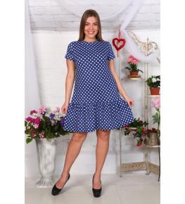Д465 Платье Валерия (горох на джинсе)