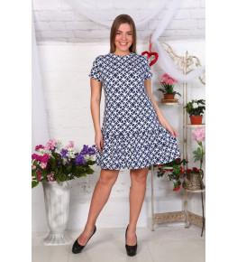 Д465 Платье Валерия (узоры на джинсе)
