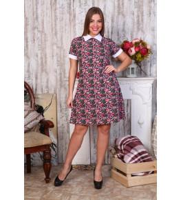 Д467 Платье Диана короткий рукав (сердечки)