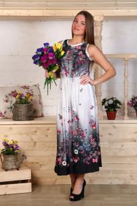 Д469 Платье Клеопатра (бабочки на ч\б.)