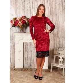 Д476 Платье Каролина (бордовое)