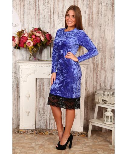 Д476 Платье Каролина (синее)